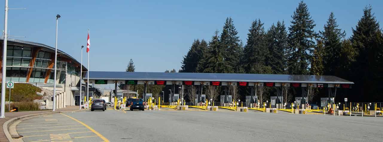 Il valico di frontiera di Blaine in Canada è stato chiuso a causa del COVID.